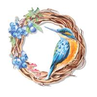 Schilderij van kolibrie