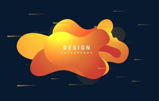 Gradiënt abstracte vloeibare vormen organische golvende kleurrijke achtergrond vector