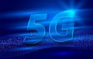 5G nieuwe draadloze internet wifi-verbinding vector