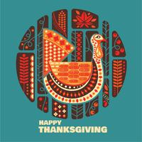 Thanksgiving decoratie set vector