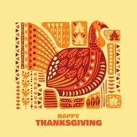 gelukkige thanksgiving set vector