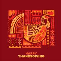 Happy Thanksgiving decoratie set vector