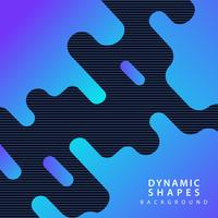 moderne dynamische vormen achtergrond vector
