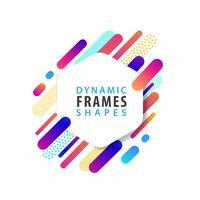 Abstracte zeshoekige frame sjabloon