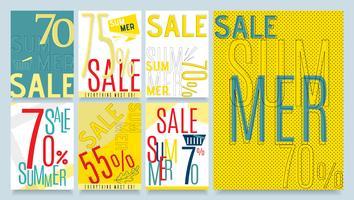 Creatieve speciale zomer verkoop kortingen seizoen Set vector