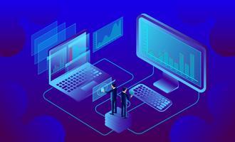 bedrijfsanalyse en communicatie vector