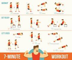 7 minuten training infographic vector
