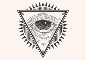 een oog badge vector