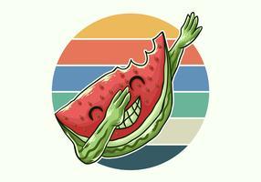 koele watermeloen deppen vector