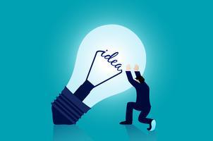 Zakenman het denken aan een idee