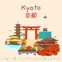 Kyoto Japan herfstseizoen