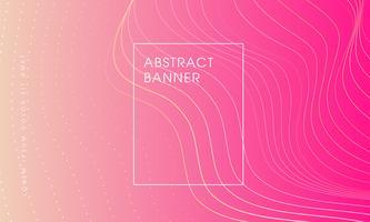 abstracte achtergrond met roze schaduwbanner. vector