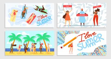 Ik hou van Summer Time for Summer vector