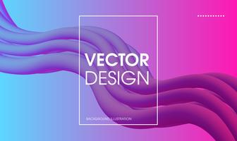 Golvende geometrische abstracte achtergrond. vector