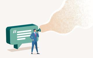 Bedrijfsadvertenties in sociaal netwerk vector