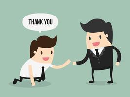 Een zakenman helpt een andere vector