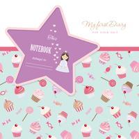 Mijn eerste Diary-notitieboekjedekking voor meisjes