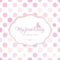 Leuke sjabloon voor notebook cover voor meisjes