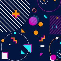trendy geometrische vormen Memphis hipster achtergrond vector