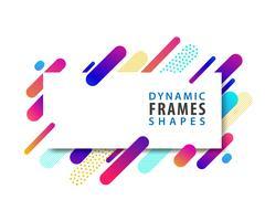 Abstracte rechthoekige frames met dynamische vormsjabloon.