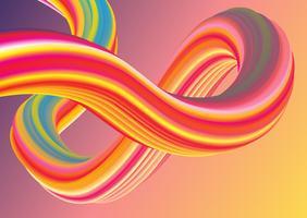 3D retro stijl pastel golven vector