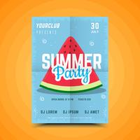 Zomer watermeloen partij poster