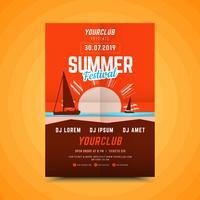 Verticale zomerfeest poster.
