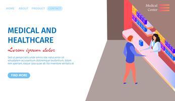 Medische en gezondheidszorg horizontale banner