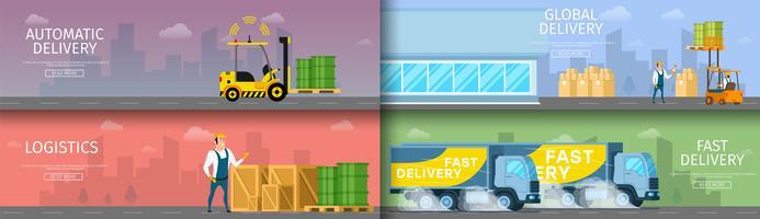slimme fabrieksmagazijn onderhoudscollectie vector