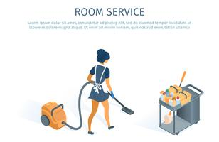 Roomservice meid vector