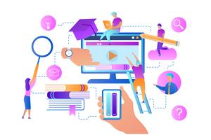 Online lessen vector