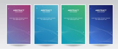 Set vloeibare kleur abstracte geometrische vormen. vector
