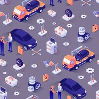 Auto reparatie service patroon
