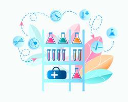 Medisch laboratorium onderzoek naar virus