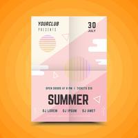 Geometrische zomerfeest poster