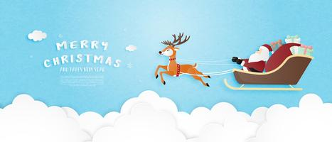 Merry Christmas wenskaart vector