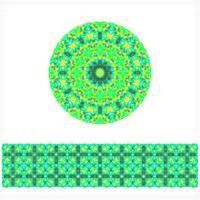 Rond geometrisch naadloos patroon vector