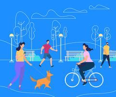 Ontspannende mensen Zomertijd Activiteit Lifestyle vector