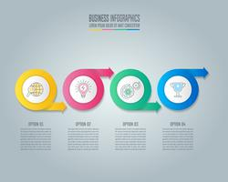 Cirkel pijl infographic ontwerp bedrijfsconcept met 4 opties