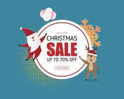 Kerst verkoop promotie banner