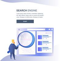 Banner voor website van zoekmachine vector