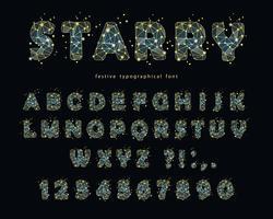 Sterren modern lettertype
