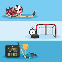 Hockey set met uniform en uitrusting vector
