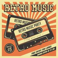 Retro Casette Tapes Vintage bewegwijzering vector
