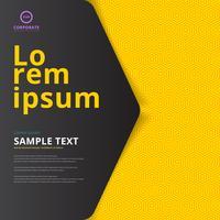 Lay-out omslagontwerp op gele zeshoek patroon