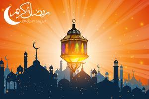 ramadan lamp vector
