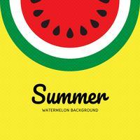 Zomer watermeloen popart achtergrond vector