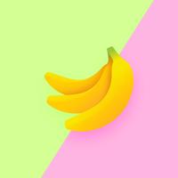 Bananen Pop Duo Kleur Achtergrond vector