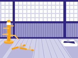 vechtsporten dojo scène vector
