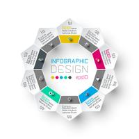 pentagon infographics vector